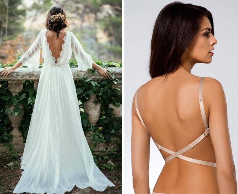 bielizna ślubna do sukni bez pleców