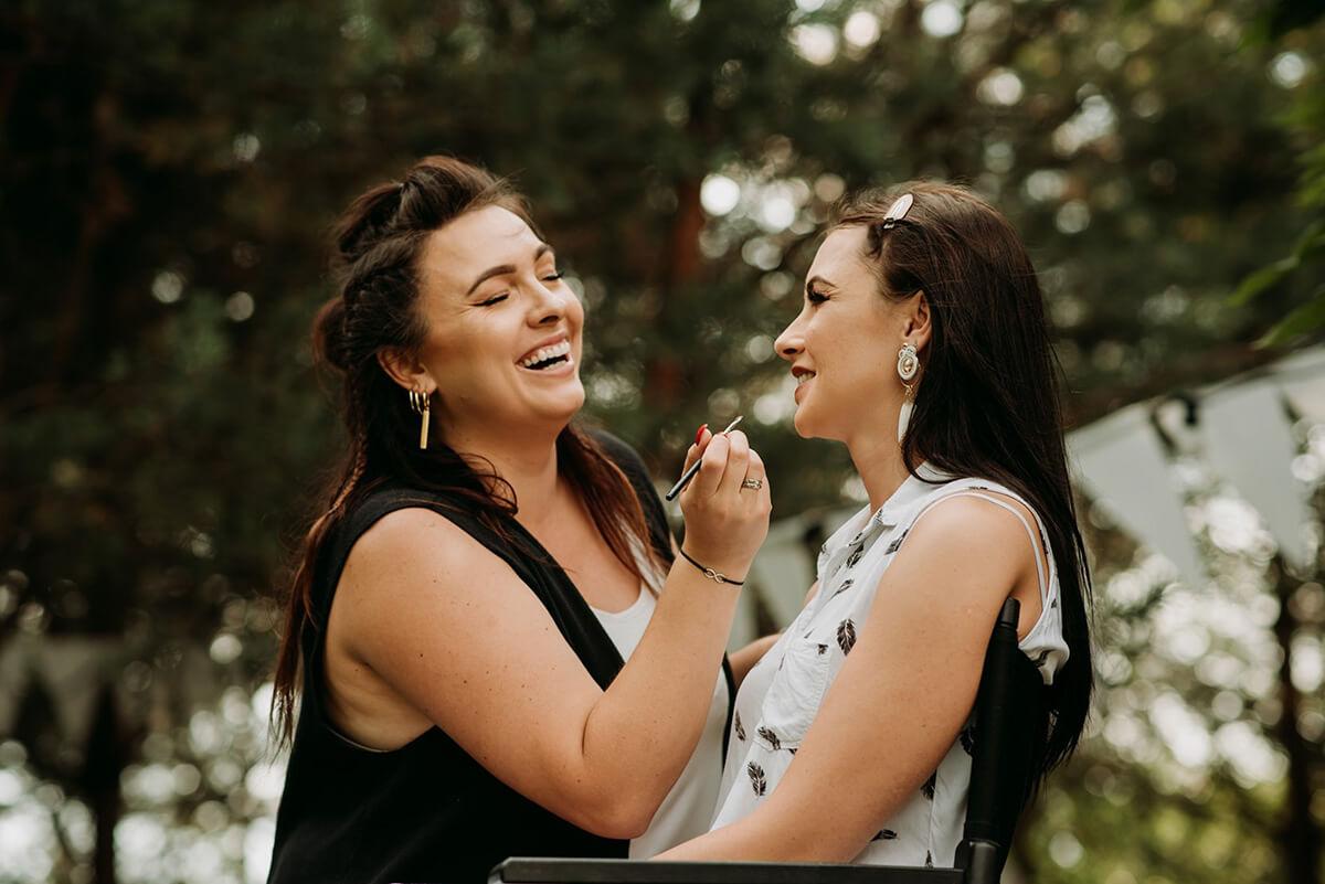 sesja stylizowana makijaż ślubny