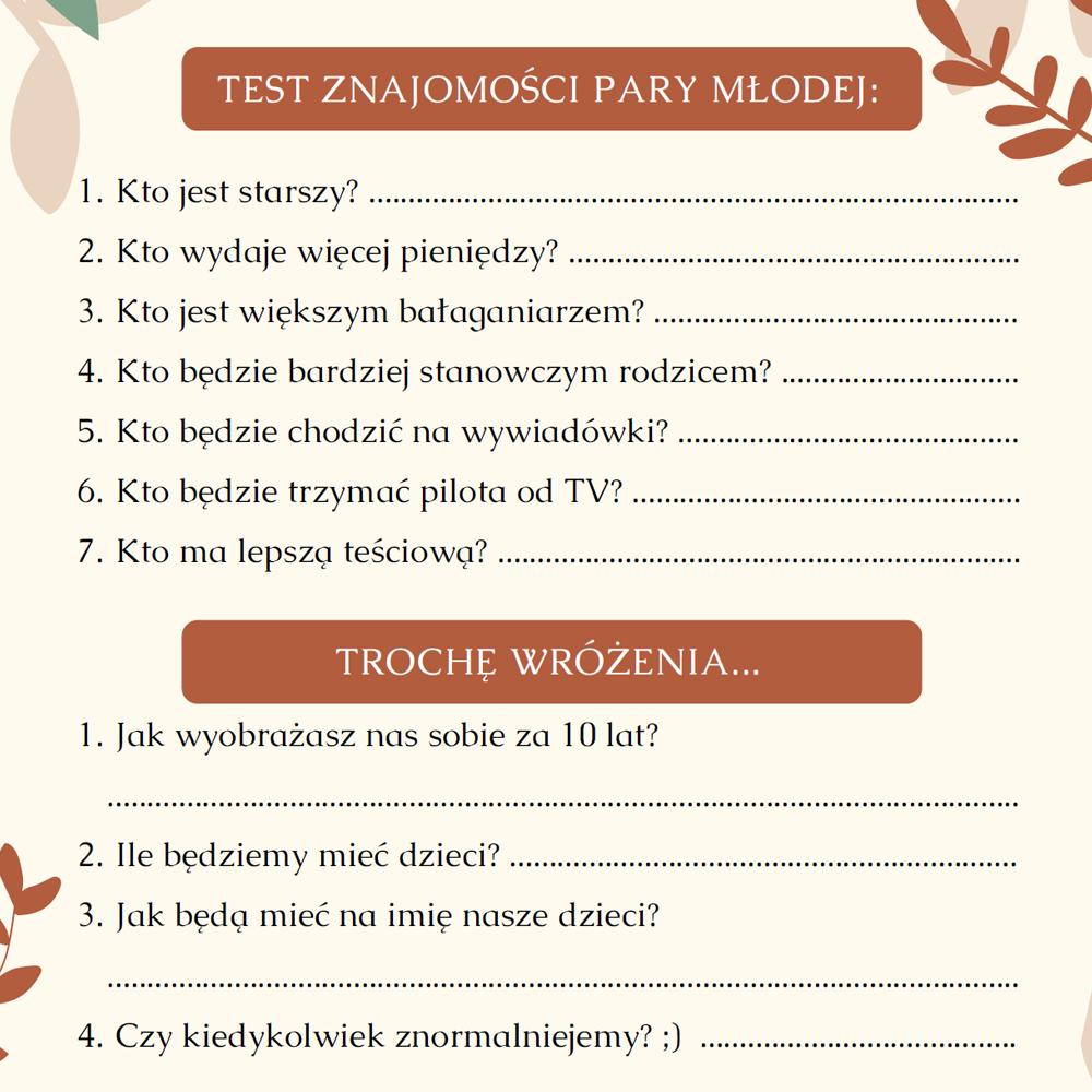 ankieta weselna pdf