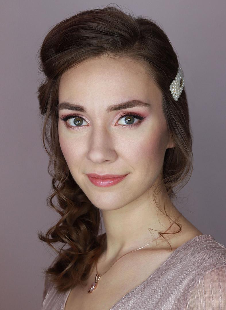 makijaż ślubny niebieskie oczy