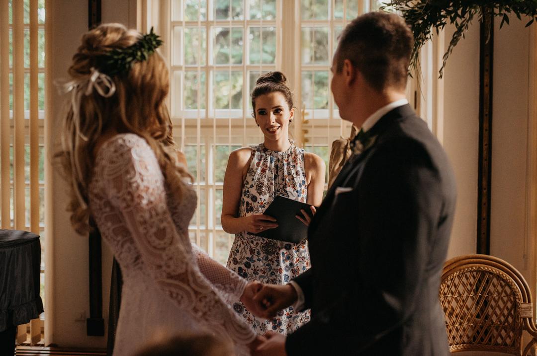 ślub humanistyczny mistrz ceremonii dominika soja blat mówię o ślubie